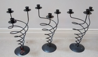 Ref: E20  - Iron Candle holders.  Height 43cm................€10.00 each